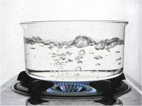 Boilng water