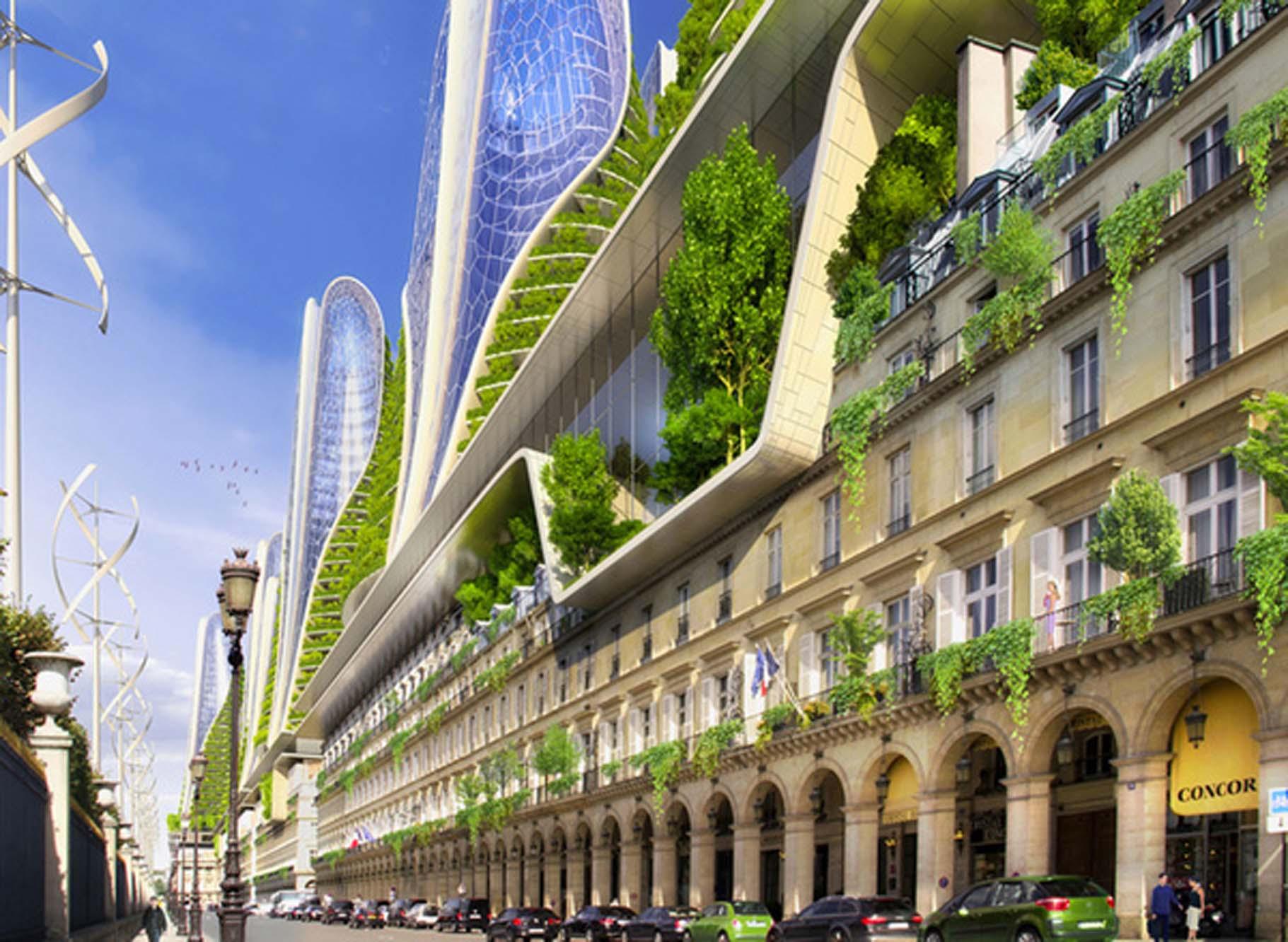 Callebaut a imaginé la rue de Rivoli (Paris, Smart City, 2050)